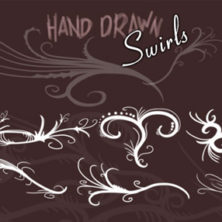 Free Hand drawn swirls photoshop brushes