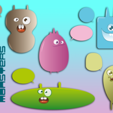Cute Monsters Free Vectors