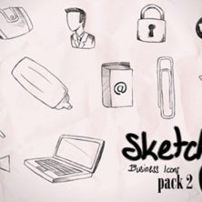 Sketchy business icons pack 02 – free vectors